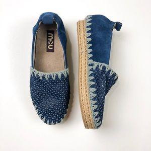 Mou Blue Espadrilles NWOT Slip On Size 39 A766